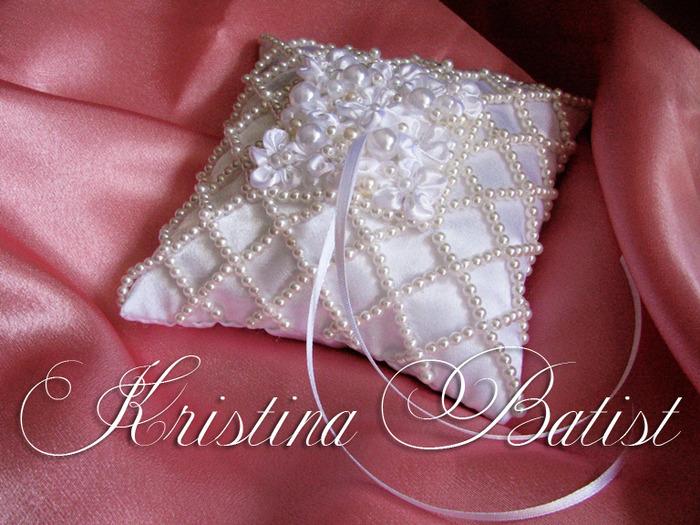 Свадебные подушечки для колец своими руками фото