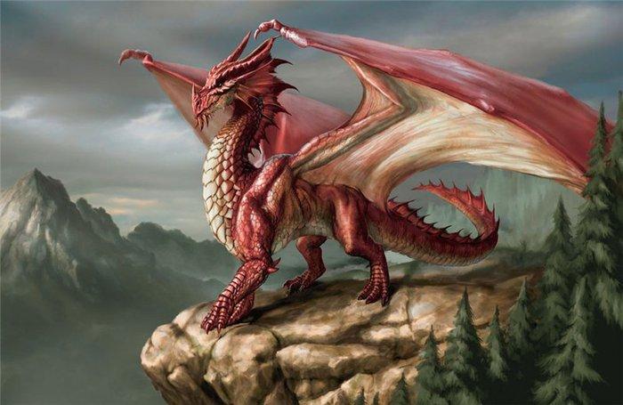 Красивые обои Красный дракон - Red Dragon на рабочий стол.