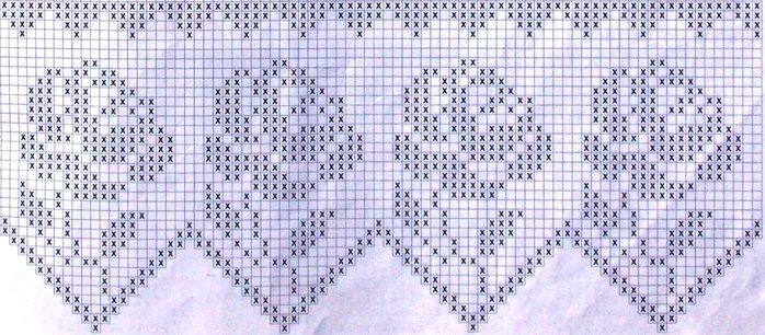филейное вязание крючком схемы