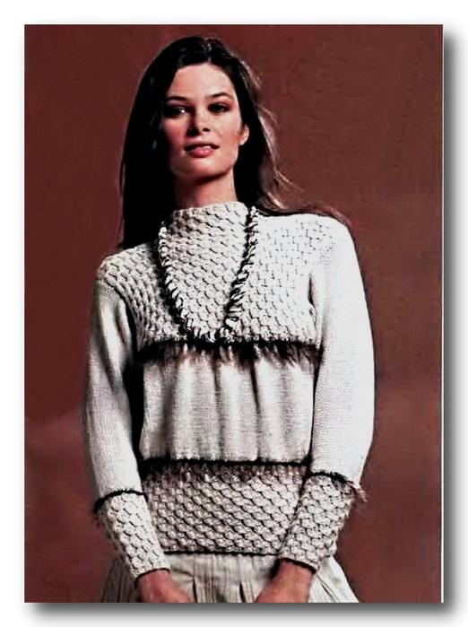Вязаные свитера спицами со схемами 9