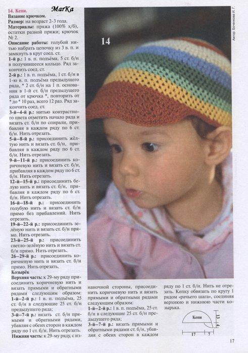 Вязание кепки для мальчика спицы