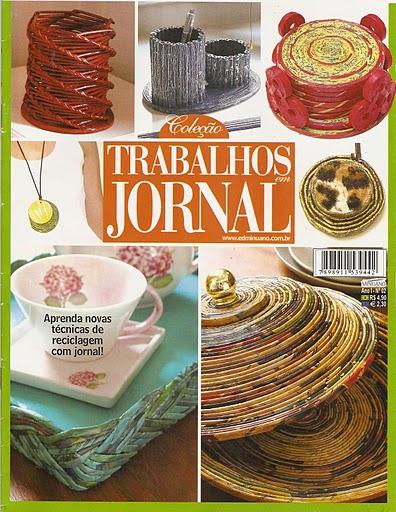 В журнале даны подробные схемы и фотографии, как из простых газет сделать вазочки, корзинки, карандашницы и другое...