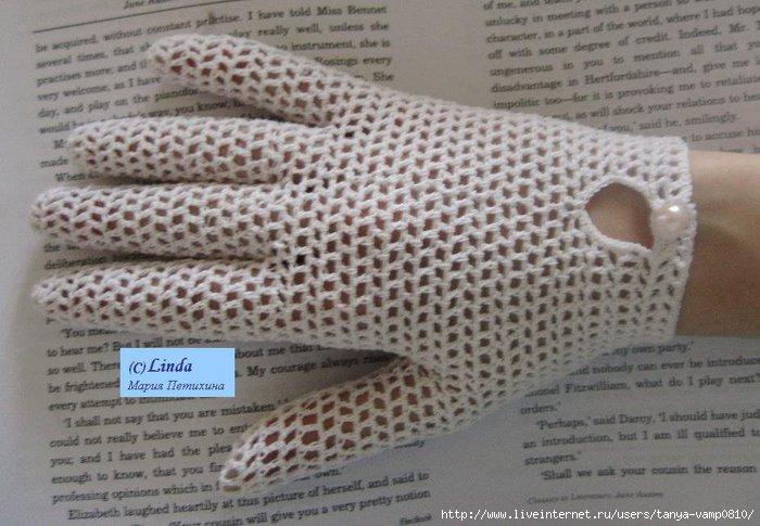 крючком схема. перчатки