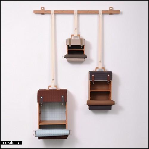 Чемоданы-полочки.  Проект Tassenkast от голландца Lotty Lindeman. фото 4 :: ГИГАМИР.