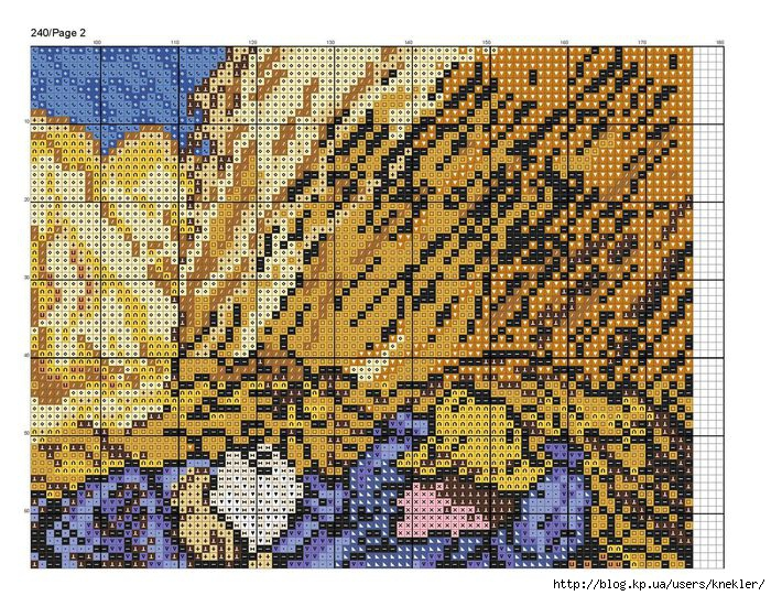 Схема вышивки картин ван гога 98