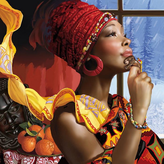 Юная черная африканка с белым смотреть онлайн в hd 720 качестве  фотоография