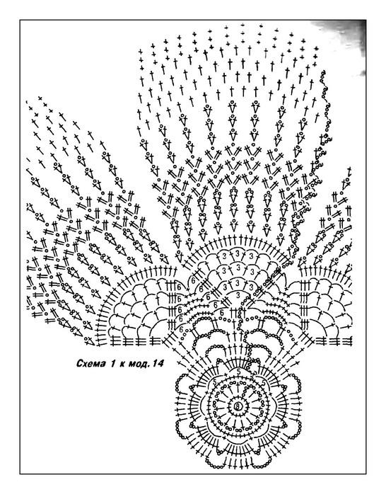схемы вязания крючком беретов летних. модные вязаные шапки для.