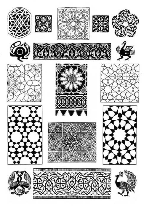 Арабы - арабский орнамент.  Живопись.  Галереи картин и графики.