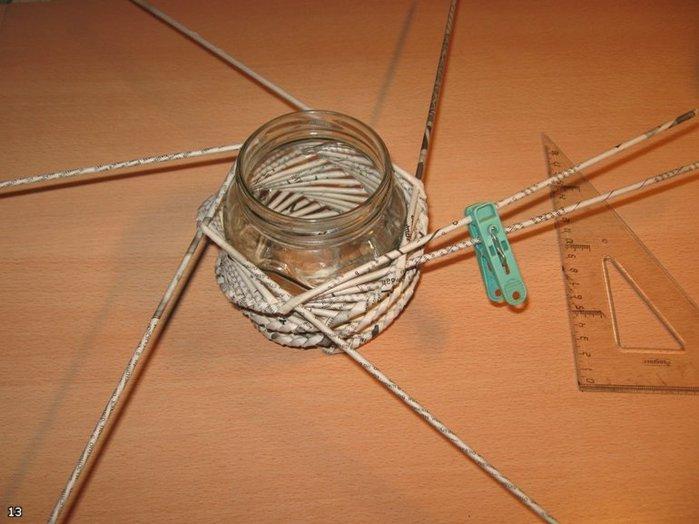 Плетение из газетных трубочек для начинающих мастер класс