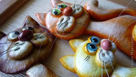 Коты из соленого теста мастер класс