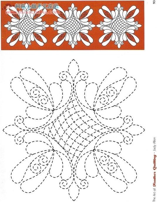 Рисунки стёжки для лоскутных изделий.