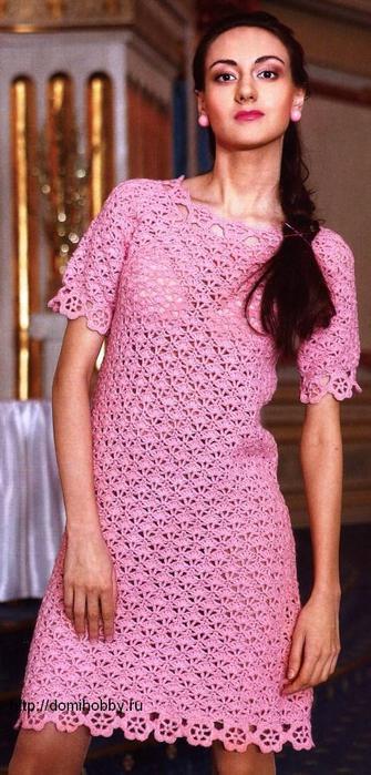 вязаное-платье-крючком (335x700, 55Kb)