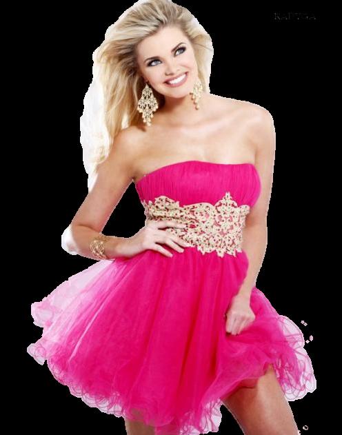 Фото коротких розовых платьев