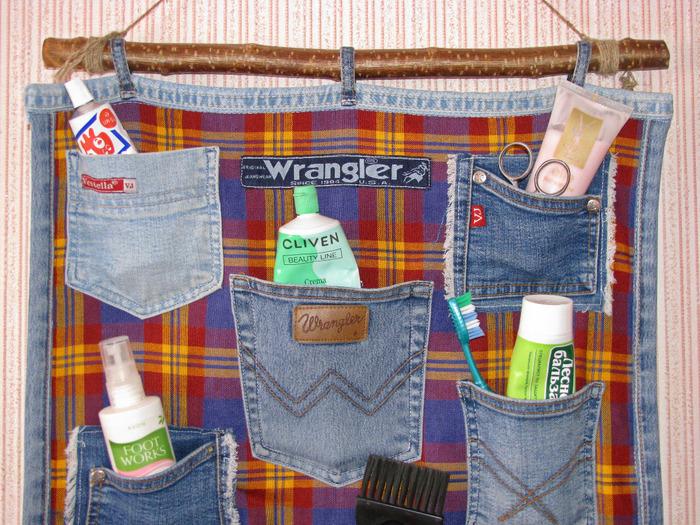 Кармашки из джинсов своими руками 16