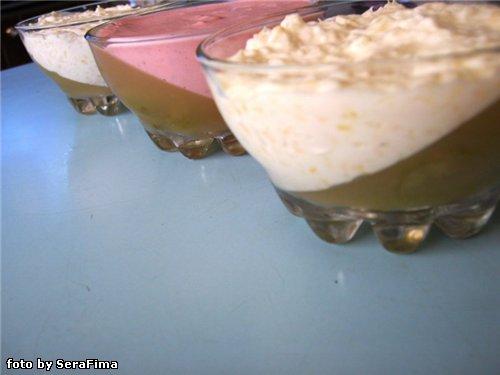 200 мл виноградного сока (можно покупного) - 1,5 ч.л желатина - йогурт фруктовый - большие ягоды винограда - лед.