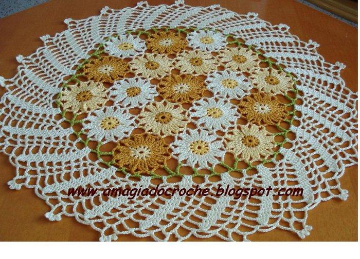 Продолжаем разговор о красивых салфетках с цветами, связанных крючком.  Все они со схемами.  Теги. салфетки. вязание.