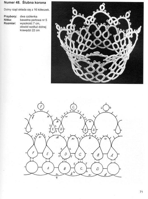 Схемы вязания фриволите 14