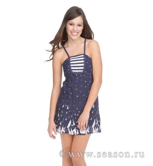 Платье из купонной ткани 167
