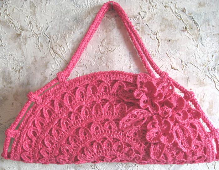 "crafts for summer: evening bag ""pansies"""