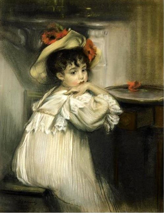 young-girl-in-a-hat-with-poppies (539x700, 297Kb)
