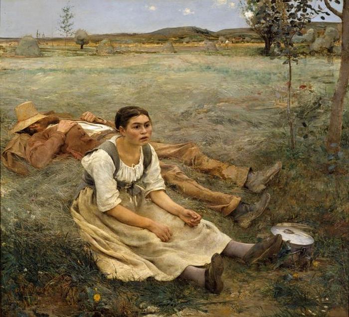 Jules Bastien-Lepage, Les Foins, 1877, (700x637, 367Kb)