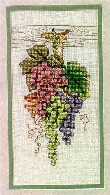 Вышивка. Виноград
