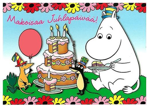 Поздравление с днём рождения на финском