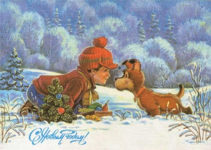 советские открытки с новым годом 4 (675x481, 163Kb)