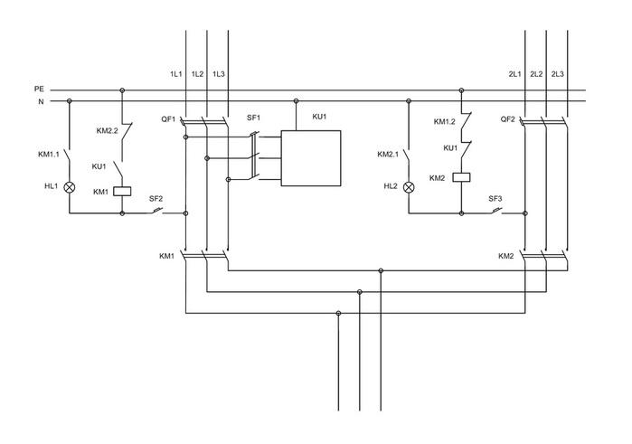 Схема электрического шкафа