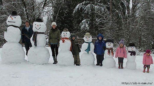 смешные снеговики, как можно слепить снеговика, фото снежных баб, прикольные снеговики, что можно слепить из снега,