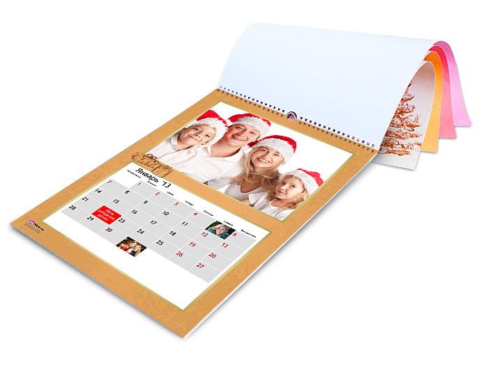 МК Перекидной календарь с фотографиями своими рукамиСкрапбукинг для начинающих