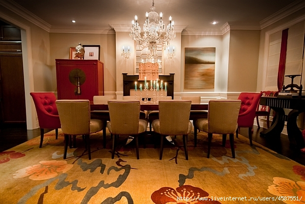 Red dining room decor