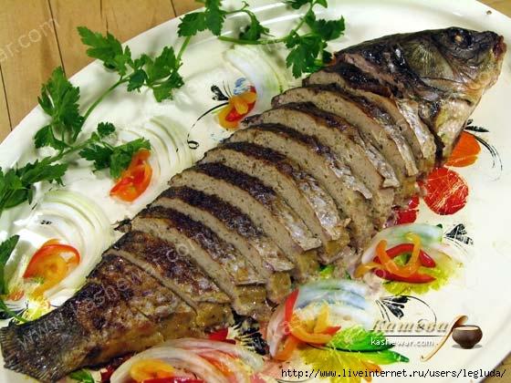 Фаршированная рыба карп рецепт