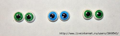 Глазки для игрушек таблеток
