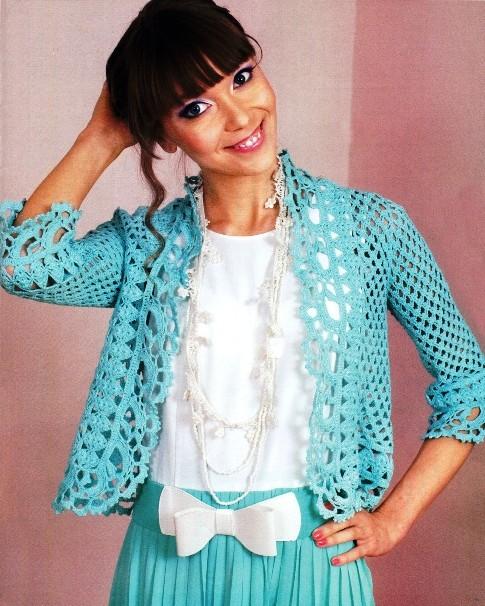 Описание вязания пиджака