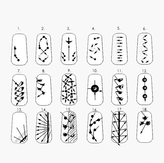 Рисунки на ногти в домашних условиях бесплатно