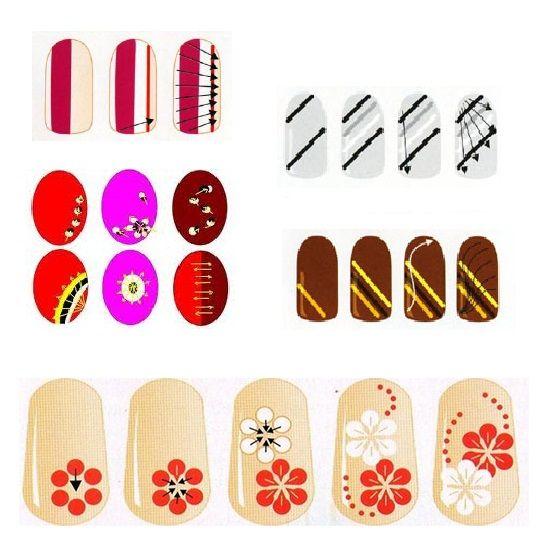 Схемы для рисунков на ногтях в домашних