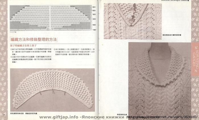 вязание воротников спицами со схемами большое количество