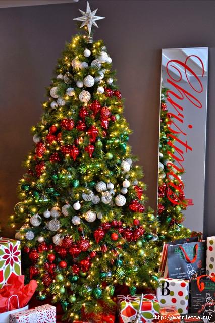 Самые красивые рождественские идеи. Елки в интерьере (1) (426x640, 276Kb)
