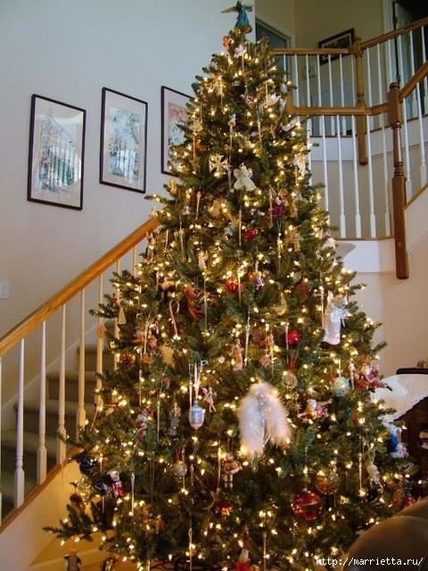 Самые красивые рождественские идеи. Елки в интерьере (3) (480x640, 253Kb)