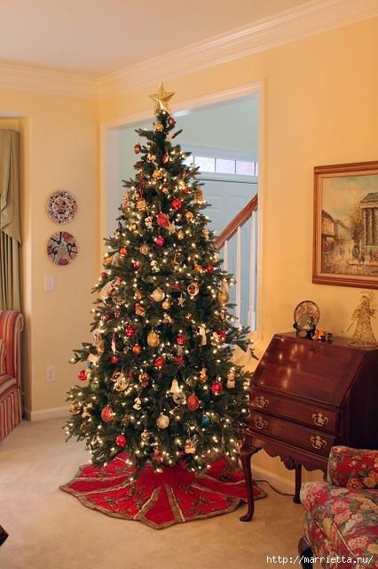 Самые красивые рождественские идеи. Елки в интерьере (6) (426x640, 185Kb)