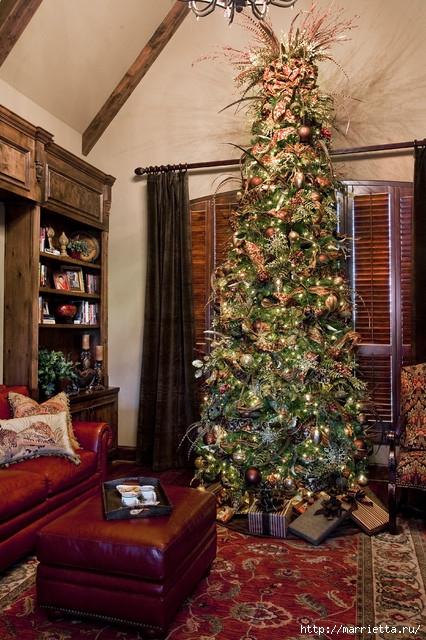 Самые красивые рождественские идеи. Елки в интерьере (9) (426x640, 270Kb)
