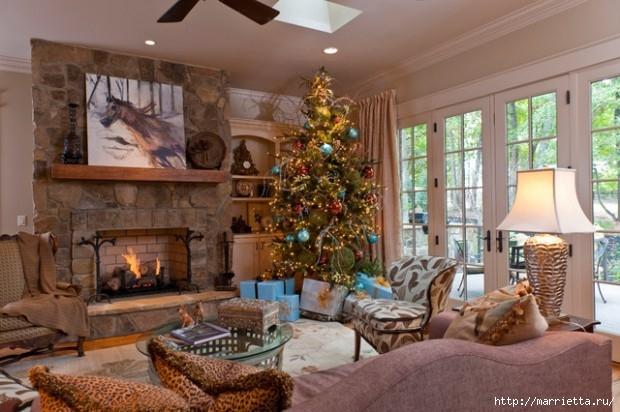 Самые красивые рождественские идеи. Елки в интерьере (12) (620x412, 177Kb)