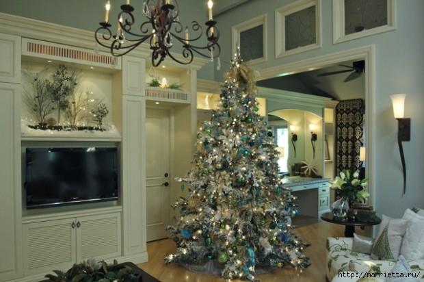 Самые красивые рождественские идеи. Елки в интерьере (14) (620x412, 158Kb)
