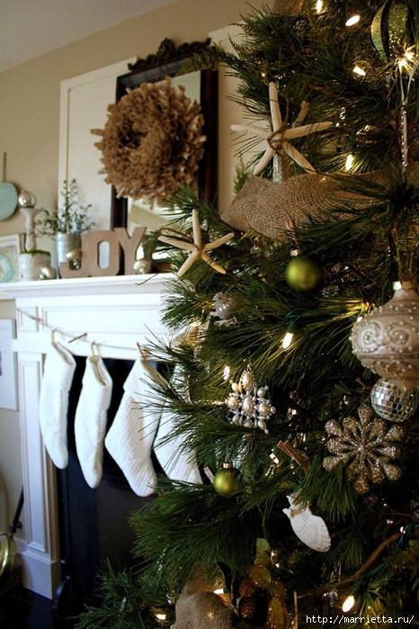 Самые красивые рождественские идеи. Елки в интерьере (19) (466x700, 317Kb)
