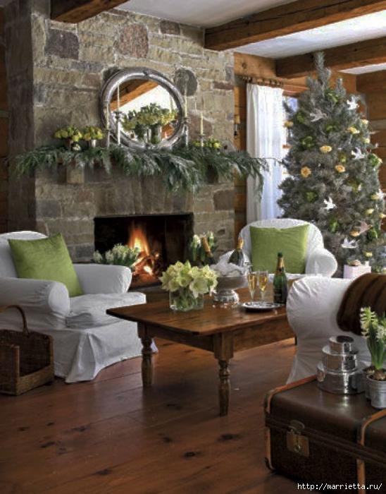 Самые красивые рождественские идеи. Елки в интерьере (21) (548x700, 286Kb)
