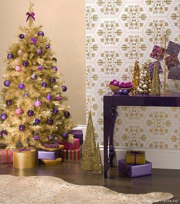 Самые красивые рождественские идеи. Елки в интерьере (24) (600x678, 330Kb)
