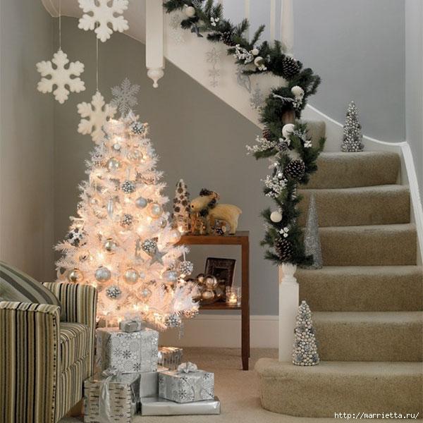 Самые красивые рождественские идеи. Елки в интерьере (26) (600x600, 203Kb)
