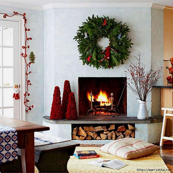 Самые красивые рождественские идеи. Елки в интерьере (30) (600x600, 278Kb)