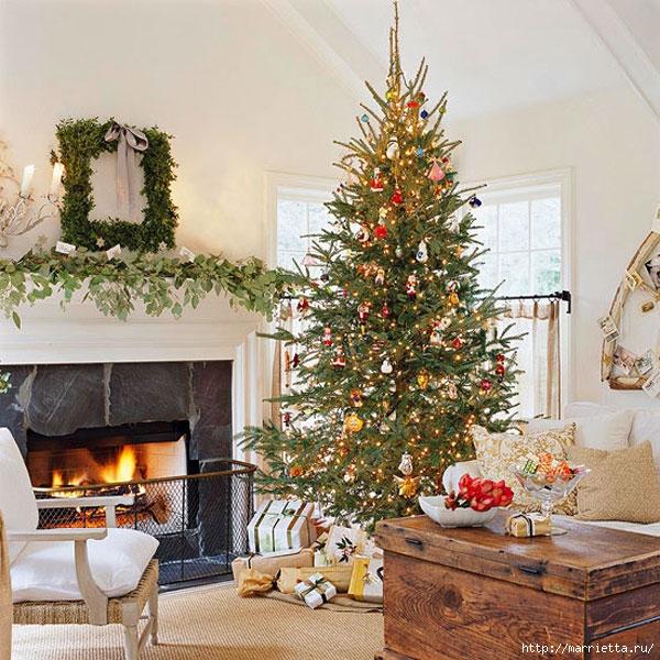 Самые красивые рождественские идеи. Елки в интерьере (36) (600x600, 299Kb)